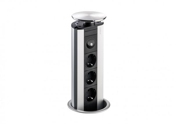 Naber, 8031134, Evoline® Port 1 LED Deckel Edelstahl mit weißen LEDs, Erkelenz