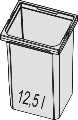 Naber, 8012319, Ersatzeimer, hellgrau 12,5 Liter, Erkelenz