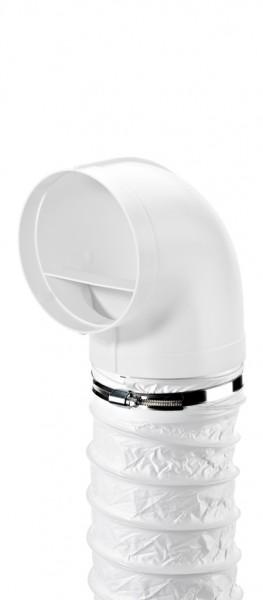 Naber, 4052021, R-URX flow 150 Umlenkstück 90° mit Flexschlauch, weiß, L 1000 mm, Erkelenz