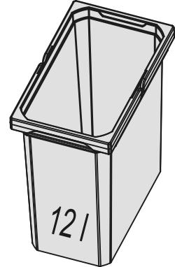 Naber, 8013333, Ersatzeimer, anthrazit, Erkelenz