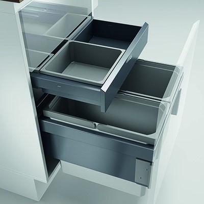 Naber, 8012372, Cox® Base 360 S/500-3 mit Base-Board, mit Biodeckel, hellgrau, H 460 mm, Erkelenz