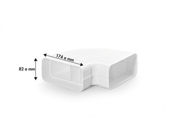 Naber 4033011, MF-RBH 125 Rohrbogen horizontal 90°, weiß, Erkelenz