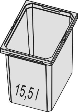 Naber, 8012334, Ersatzeimer, hellgrau, Erkelenz