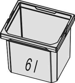 Naber, 8012326, Ersatzeimer hellgrau, 6 Liter, Erkelenz