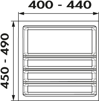 Naber, 8034212, Ordine, für 500er, Schrank, 2 Trennstege-Sets, Erkelenz