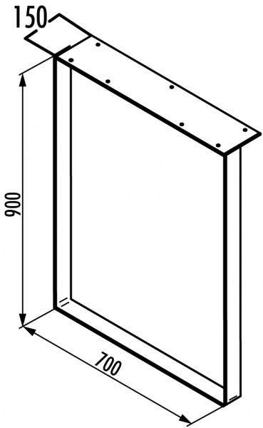 Naber, 3033094, Kufe für Anrichttisch, Edelstahl, H 900 mm, Erkelenz
