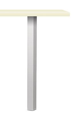 Naber Kreta Vierkantfuß Aluminium 3013012