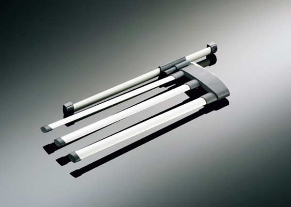 Naber, 8032015, Handtuchhalter, Secco AluLine, 2-armig, B 122 mm, alu/graphitgrau, Erkelenz
