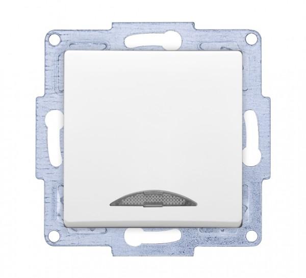 Gunsan 01281100250102, VISAGE + MODERNA Modul Schalter Ein-/Ausschalter beleuchtet Weiss, Erkelenz