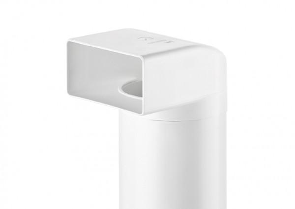 Naber, 4011014, N-UR 100 Umlenkstück 90° mit Rundrohr, weiß, L 500 mm, Erkelenz