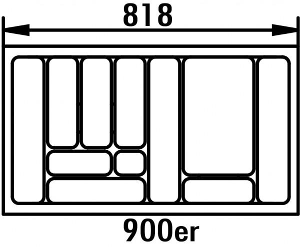 Naber 8030007, Besteckeinsatz 4, für 900er Schrank, B 818, T 473 mm