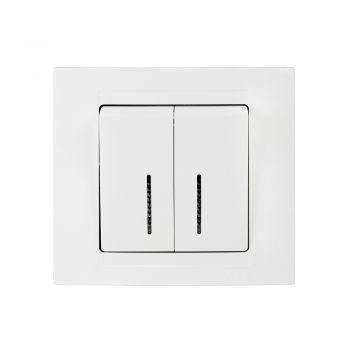 Gunsan,Moderna,2-fach Schalter,Serienschalter mit Beleuchtung,Unterputz Weiss,01291100200104,Erkelenz
