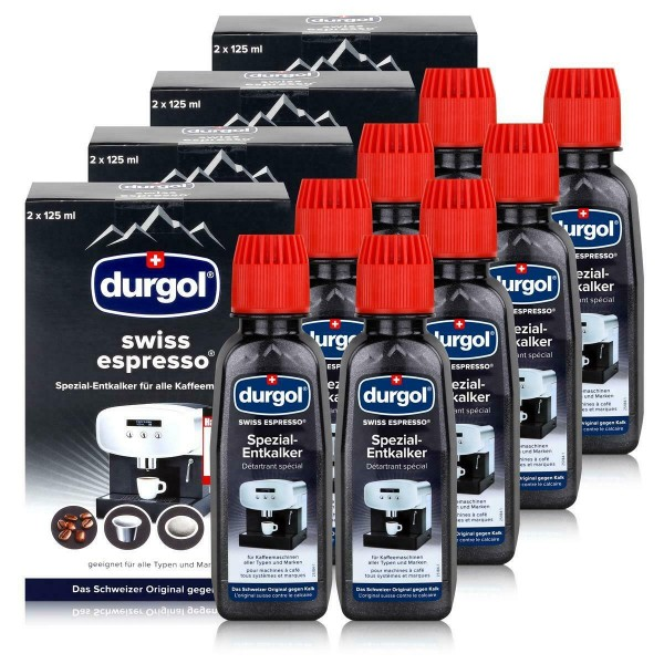 Durgol Swiss Spezial Espresso 8 Entkalker Flaschen a 125ml, Erkelenz