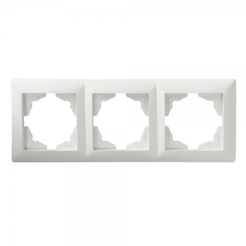 Gunsan, 1281100000143, Visage, 3-fach Rahmen, für 3 Steckdosen, Schalter, Dimmer, Weiss, Erkelenz