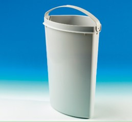 Naber 0442 Ersatzeimer mit grauem Griff für Cabbi® 3 und Cabbi® 3 plus, Müllsortierung Mülleimer, Erkelenz