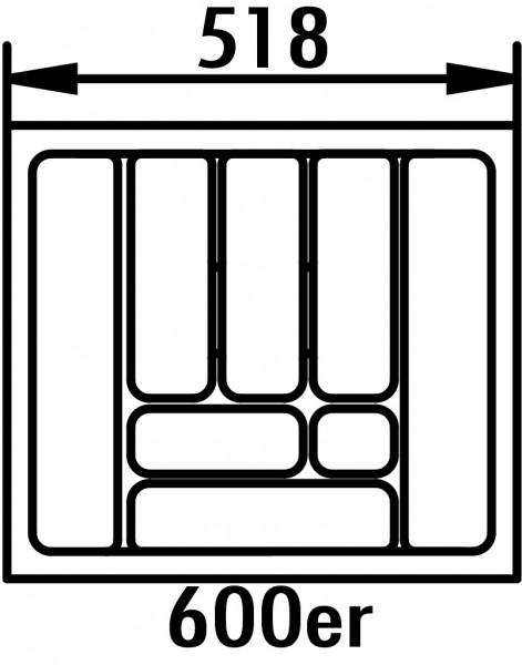 Naber, 8030012, Besteckeinsatz 4, für 600er Schrank, B 518, T 473 mm, Erkelenz
