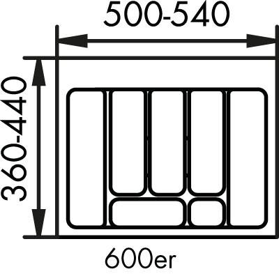 Naber, 8034124, Besteckeinsatz 2, für 600er, Schrank, Erkelenz