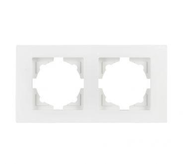 Gunsan Moderna, 2-fach Rahmen, Steckdose, Schalter, Dimmer, weiß, 01291100000141,Erkelenz