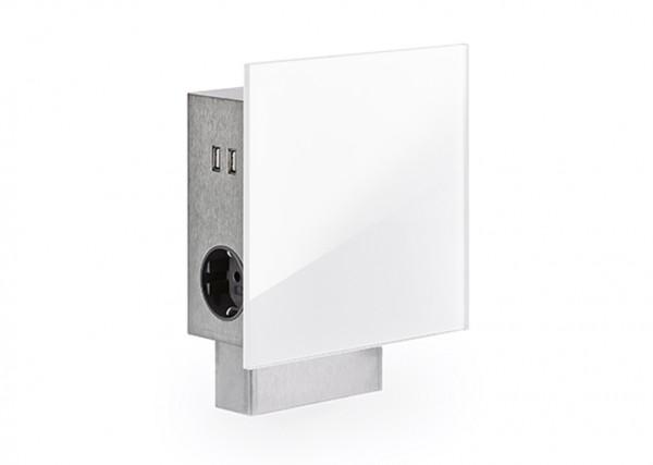Naber, 7053058, Mira Quad Glas-USB, Edelstahl/Glas, Erkelenz