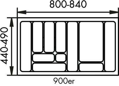 Naber, 8034131, Besteckeinsatz 1, für 900er, Schrank, Erkelenz