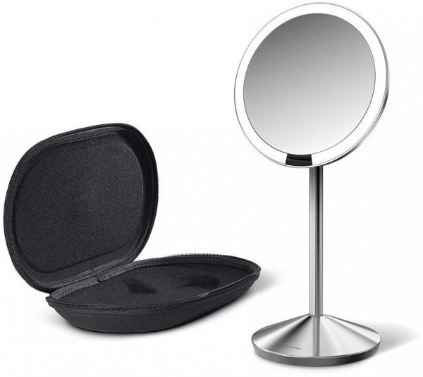 Simplehuman LED Kosmetik Spiegel mit Sensor, Etui 10-fache Vergrößerung Genial, Erkelenz