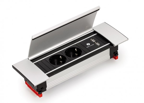 Naber, 7053017, Power Frame Cover-USB, mit Schukosteckdosen, Erkelenz