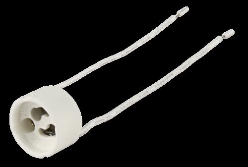 Bioledex Lampenfassung, GU10, rund, für Hochvoltlampen, 11 cm Kabel, max. 250V / 100W, Erkelenz