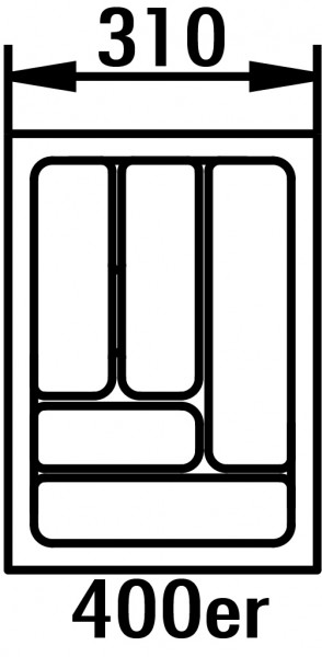Naber, 8034256, Besteckeinsatz 5, für 400er Schrank, B 310, T 480 mm, Erkelenz
