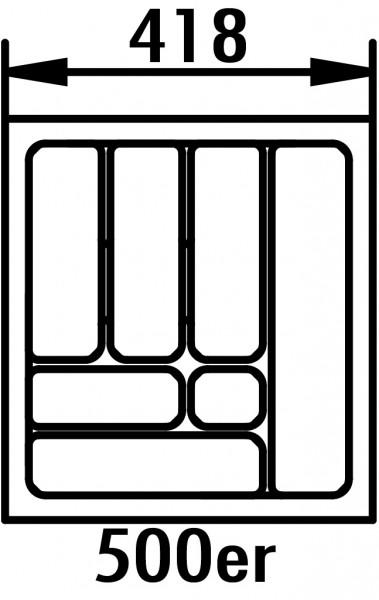 Naber, 8030011, Besteckeinsatz 4, für 500er Schrank, B 418, T 473 mm, Erkelenz