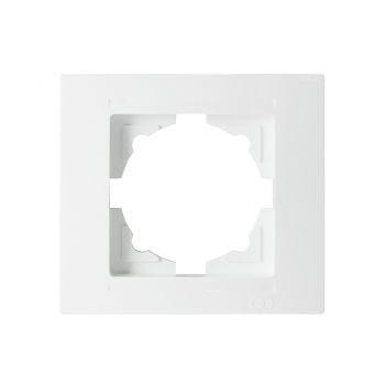 Gunsan Moderna, 1-fach Rahmen, Steckdose, Schalter, Dimmer, weiß,01291100000140,Erkelenz