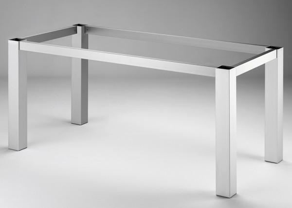 Naber, 3032024, Tischgestell 80, edelstahlfarbig, gebürstet, B 1460, T 710 mm, Erkelenz