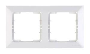 Mutlusan, Candela, 2-fach Rahmen, horizontal, weiss, für 2 Module, 21258001201, Erkelenz