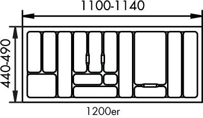 Naber, 8034133, Besteckeinsatz 1, für 1200er, Schrank, Erkelenz