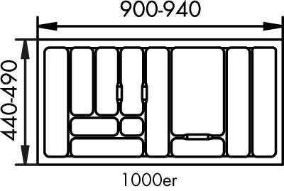 Naber, 8034132, Besteckeinsatz 1, für 1000er, Schrank, Erkelenz