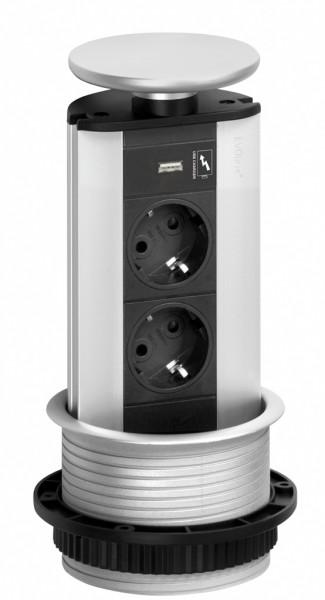 Naber, 8031148, Evoline® Port-USB, Deckel silberfarbig,Erkelenz