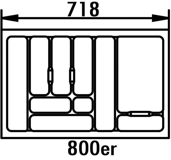 Naber, 8030002, Besteckeinsatz 4, für 800er Schrank, B 718, T 473 mm, Erkelenz