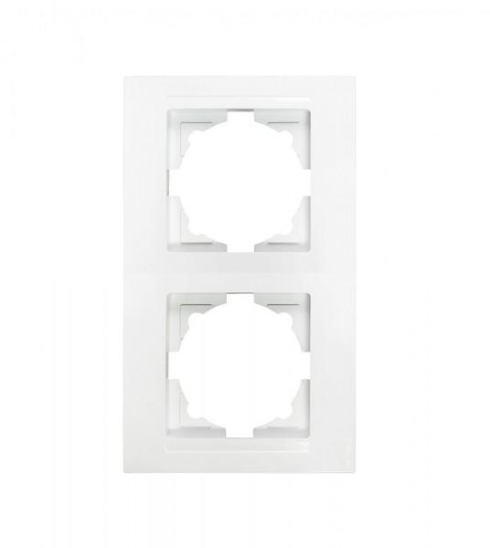 Gunsan 01291100000142, Moderna 2-fach Rahmen Senkrecht Weiss, Erkelenz