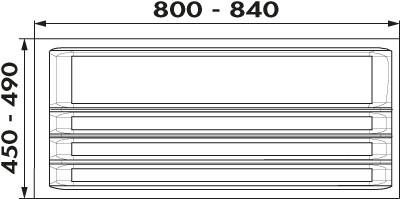 Naber, 8034214, Ordine Besteckeinsatz, für 900er, Schrank, 3 Trennstege-Sets, Erkelenz