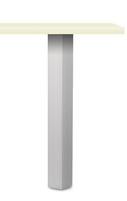 Naber, 3013029, Rhodos Vierkantfuß Aluminium, edelstahlfarbig, H 1100 mm, Erkelenz