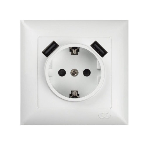 Gunsan 01281100100358, Visage USB Steckdose für Ladebuchsen / Smartphones / Tablet, Erkelenz