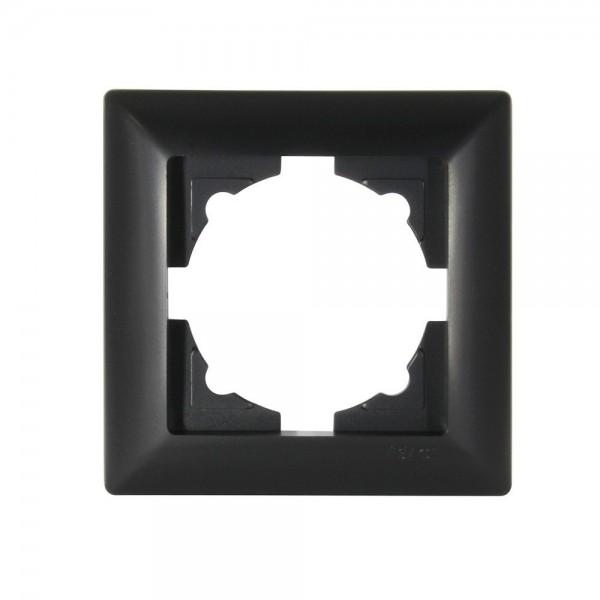 Gunsan Visage 1-fach Rahmen für 1 Steckdose Schalter Dimmer Schwarz