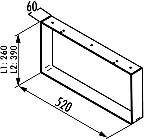 Naber, 3033092, Kufe für Sideboard, Edelstahl, H 390 mm, Erkelenz